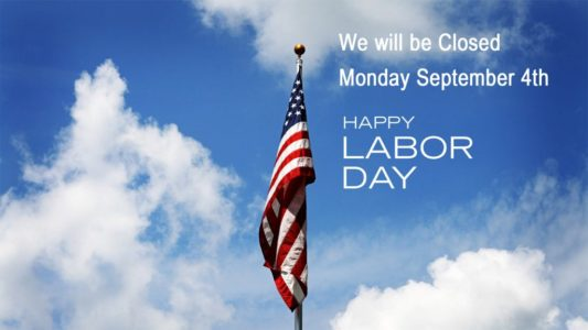 Library Closure – Labor Day