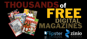 Zinio and Flipster Digital Magazines